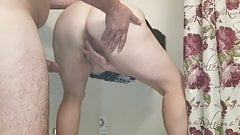 Sexy BBW Gets Fucked from Behind and Drips Cum