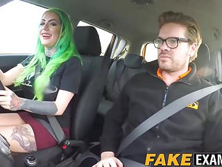 Hot inked slut gets pounded by her English driving teacher