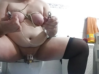 anal big dildo, bondage tits and torture