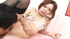 Reina Yoshii on heels gets shlong in mouth and in hairy hot