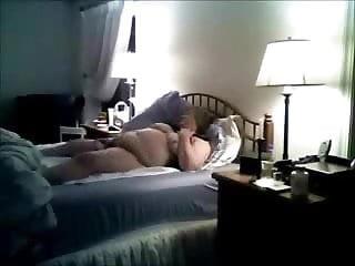 Mom masturbating on bad caught by bad son. Hidden cam