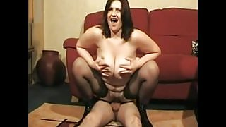 Saggy tits milf fuck young boy