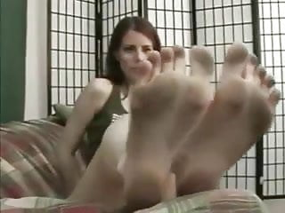 walking in sandals, then showing you her sexy dirty feet