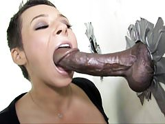 Ariel Alexis Deepthroats Black Dick - Gloryhole