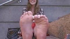 stinky wrinkled soles