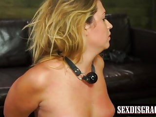 Cute girl Jenna Ashley gets fucked hard on a leather couch