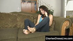 Kinky Big Tit MILF Charlee Chase Foot Fucked and Tickled