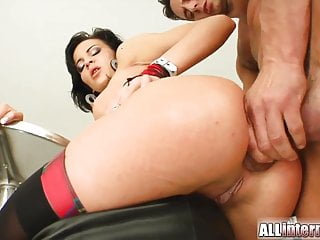 Diana's tight little hot hole gets max load of sperm
