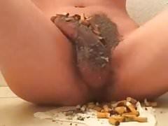 trash boy with cock ashtray