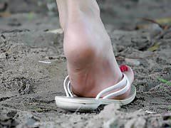 Feet 004 - Flip Flop Flapped Down