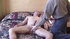 Two friends help each other cum after blowjob and toy fun