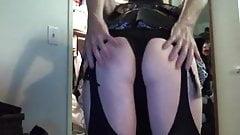 Sexy Frenchmaid Brunette Big Booty Crossdresser Tgirl