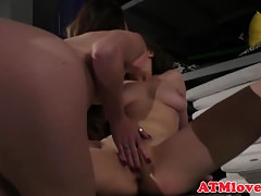 Lesbian duo enjoys analplay in closeup