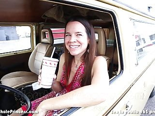 Sex in Public #63Fast Food Drive Thru Cum Facial