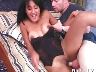 French tanned slut hard anal fucked