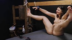 Punished little whore kicking around