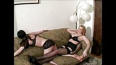 brunette is tickled and spanked 2 of 2