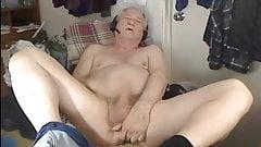 Adorable grandpa is masturbating