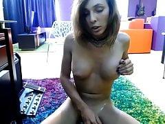 Sexy Tranny big cock shaved balls big tits cumming