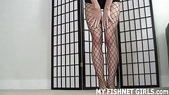 My fishnet body stocking makes me feel so hot JOI
