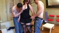 Nina gets banged by few cocks
