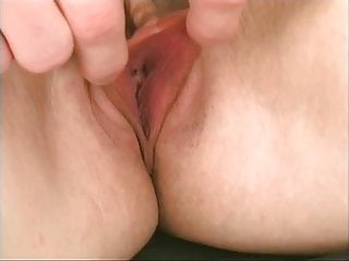 Hot blonde with big tits finger fucks her wet pussy