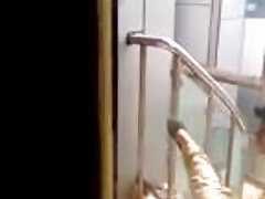 caught pakistani guy fingering a women in the hotel stairs