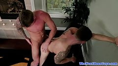Barebacked cheating groom covered in own cum