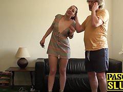 Dirty slut Liz punished hard by Pascal