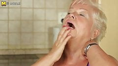 Real granny is hungry for a good fuck