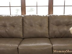 Glam teen fingered by her new stepmommy