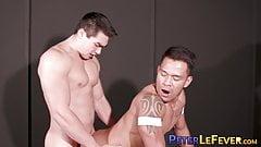 Asian hunk fucks his tattooed jock friend hard