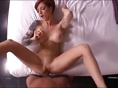 sexy latina red head milf having fun with a cock