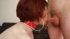 Busty Redhead Milf give a Super Blowjob