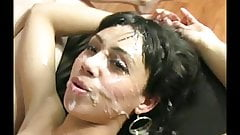 Girls getting face full of cum