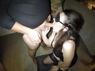 Blindfolded Wife Enjoys Sucking Dicks Of Strangers