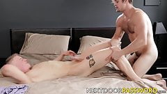 Bareback and kissing with Alex Tanner and Charlie Pattinson