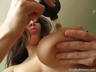 Stella Fox Plays With Lactating Tits