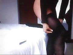 The sister of my friend! Amateur hidden cam!