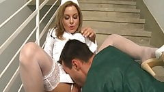 Sexy Nurse gets fucked on the stairs