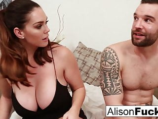 Busty Alison Tyler meets her Catfish then fucks his roomate