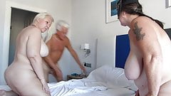 Silver Stallion with Mel and JJ on his Cock and Face