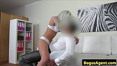 Lapdancing casting eurobabe nailed by agent
