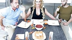 Sexy Milf Phoenix Marie Fucks Stepson & Dad For Thanksgiving's Thumb