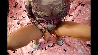Roxy Valentine jerking off my big sissy cock till i cum!