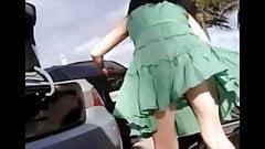 Upskirt on Windy Day