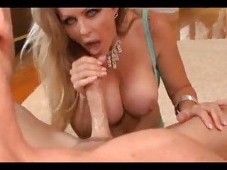 Sexy milf blows cock