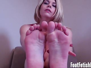 My feet will feel so good on your rock hard cock
