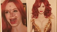Christina Hendricks Cum tribute 4