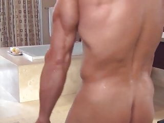 Washes his dick before sex